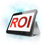 Business concept: ROI on tablet pc computer — Stock Photo