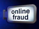 Protection concept: Online Fraud on billboard background — Stock fotografie