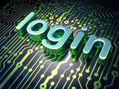 Privacy concept: Login on circuit board background — Stock Photo