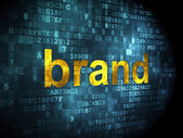 Advertising concept: Brand on digital background — Stock Photo