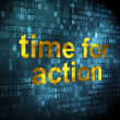 Timeline concept: Time for Action on digital background — Stock Photo #31842573