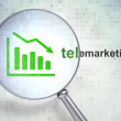 Stock Photo: Marketing concept: Decline Graph and Telemarketing with optical