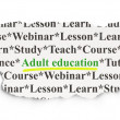 Education concept: Adult Education on Paper background — Stock Photo