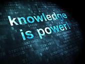 Education concept: Knowledge Is power! on digital background — Zdjęcie stockowe