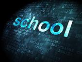 Education concept: School on digital background — Stock Photo