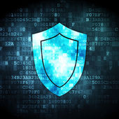 Security concept: Shield on digital background — Stock Photo