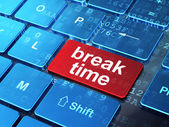Timeline concept: Break Time on computer keyboard background — Stock Photo