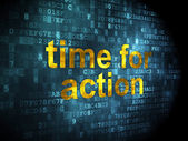 Timeline concept: Time for Action on digital background — Fotografia Stock