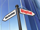 Advertising concept: Digital Marketing on Building background — Stock Photo