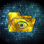 Finance concept: Folder With Eye on digital background — Stock Photo
