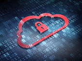 Cloud technology concept: Red Cloud Padlock — Stock Photo