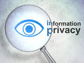 Safety concept: Eye and Information Privacy with optical glass — Foto de Stock