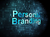 Marketing concept: Personal Branding on digital background — Stock Photo