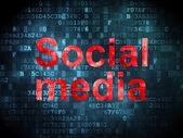 Sosyal medya kavramı: sosyal medya dijital arka plan üzerinde — Stok fotoğraf