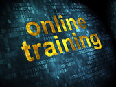Education concept: Online Training on digital background — Stock Photo