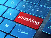 Security concept: Phishing on computer keyboard background — Stock Photo