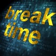 Stock Photo: Timeline concept: Break Time on digital background
