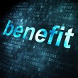 Business concept: Benefit on digital background — Foto Stock #31894051