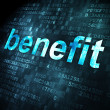 图库照片: Business concept: Benefit on digital background