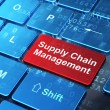 Marketing concept: Supply Chain Management on computer keyboard — Stock Photo