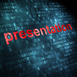 Marketing concept: Presentation on digital background — Stock Photo
