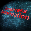 Business concept: Business Information on digital background — Stockfoto