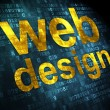 SEO web design concept: Web Design on digital background — Stock Photo