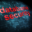 Safety concept: Database Security on digital background — 图库照片