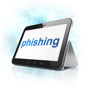 Privacy concept: Phishing on tablet pc computer — Stock Photo