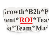 Business concept: ROI on Paper background — Photo