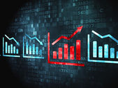 Finance concept: Graph on digital background — Stock Photo