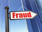 Protection concept: Fraud on Building background — Zdjęcie stockowe