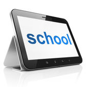 Education concept: School on tablet pc computer — Photo