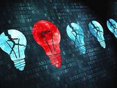 Business concept: Lightbulb on digital background — Stock Photo