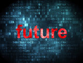 Time concept: Future on digital background — Stok fotoğraf