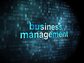 Business concept: Business Management on digital background — Stock Photo