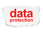 Security concept: Data Protection on Paper background — Stock Photo