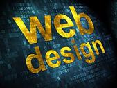SEO web design concept: Web Design on digital background — Stock Photo
