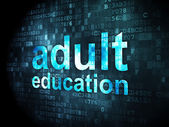Education concept: Adult Education on digital background — Foto Stock