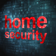 Safety concept: Home Security on digital background — Stock Photo