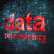 Information concept: Data Processing on digital background — Stock Photo #32054999