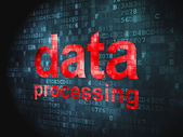 Information concept: Data Processing on digital background — Stock Photo