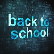 Education concept: Back to School on digital background — Stock Photo #32074055