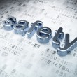 Security concept: Silver Safety on digital background — Foto Stock