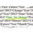 图库照片: Time concept: Time for Change on Paper background