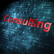 Business concept: Consulting on digital background — Stock Photo #32183727