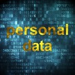 Data concept: Personal Data on digital background — Zdjęcie stockowe