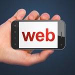 SEO web design concept: Web on smartphone — Stock Photo
