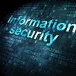 Protection concept: Information Security on digital background — Stock Photo