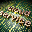 Stock Photo: Cloud technology concept: Cloud Service on circuit board backgro